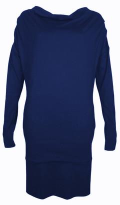 Format TJOK Blue Single Long Sleeved Dress - L - Blue