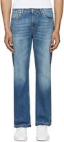 Alexander McQueen Blue Straight-leg Jeans