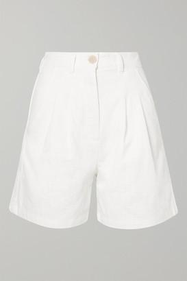 L.F. Markey Henry Linen And Cotton-blend Shorts