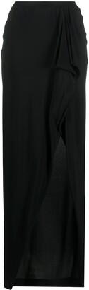Rick Owens High-Waisted Wrap Skirt