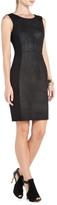 BCBGMAXAZRIA Kellan Faux-Leather Sheath Dress