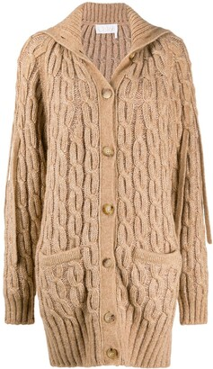 Chloé Cable Knit Cardi-Coat