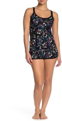Hanky Panky Violets Blue Floral Pajama Tank & Shorts Set