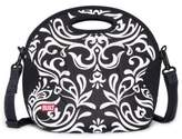 Built NY Neoprene Damask Spicy Relish Lunch Tote in White/Black
