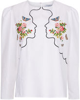 Vivetta White Double Face Embroidered Blouse