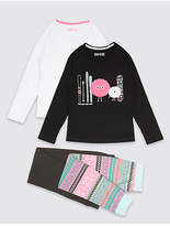 Marks and Spencer 2 Pack Cotton Pyjamas with Stretch (3-16 Years)