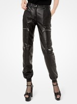 Michael Kors Plonge Leather Cargo Joggers