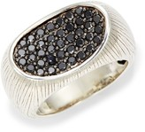 Effy Sterling Silver & Black Diamond Ring