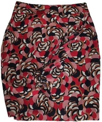 Hobbs \N Burgundy Wool Skirt for Women Vintage