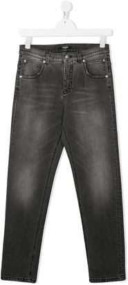Balmain Kids Stonewashed Slim-Fit Jeans