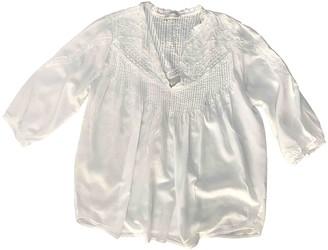 LES COYOTES DE PARIS White Cotton Top for Women