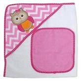 Neat Solutions ; Owl Hooded Towel and Washcloth Set