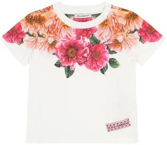 Dolce & Gabbana Kids Baby floral cotton T-shirt