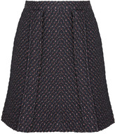 Carven Bouclé-tweed mini skirt