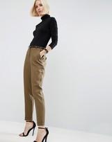 Asos Linen Cigarette Pants with Belt