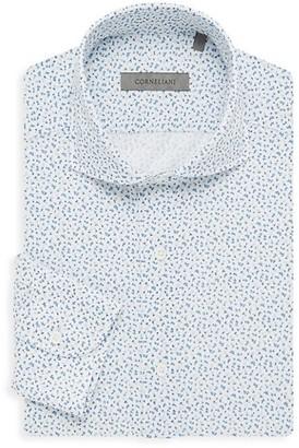 Corneliani Printed Jersey Dress Shirt