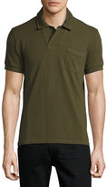 Tom Ford Short-Sleeve Polo Shirt, Olive