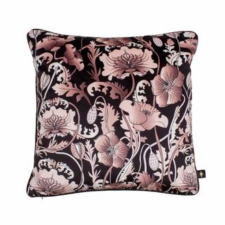 The Curious Department Opium Blush Black Velvet Cushion