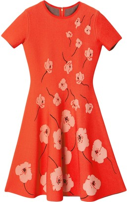 Carolina Herrera Floral-Print Flared Dress