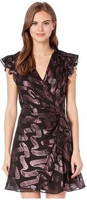 Rebecca Taylor Sleeveless Lurex Jacquard Dress (Black) Women's Clothing
