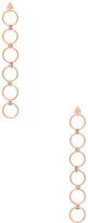 Luv Aj The Scattered Gem Loop Earrings in Metallic Copper.