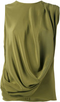 Gianluca Capannolo draped tank top