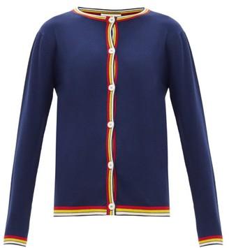 Marni Stripe-edge Wool Cardigan - Navy