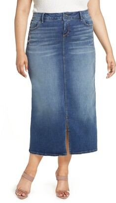 SLINK Jeans Long Denim Skirt