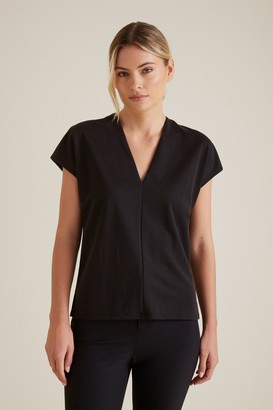 Seed Heritage V Neck Seam Detail Top