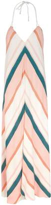 Vix Paula Hermanny V I X Paula Hermanny Chimera Striped Rayon Maxi Dress