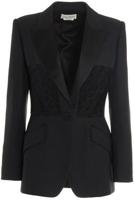 Alexander McQueen Lace-Panel Detailed Blazer