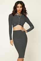 Forever 21 FOREVER 21+ Stripe Knit Midi Skirt