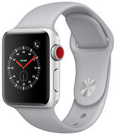 Apple Watch Series 3,GPS and Cellular, 38mm Silver Aluminium Case with Sport Band, Fog