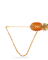 Dolce & Gabbana Pineapple crystal-embellished brooch