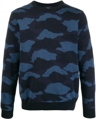 Paul Smith Knitted Camouflage Pattern Jumper