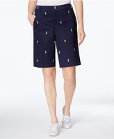 Charter Club Embroidered Bermuda Shorts, Created for Macy's