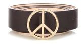Paul Smith Peace-buckle leather belt
