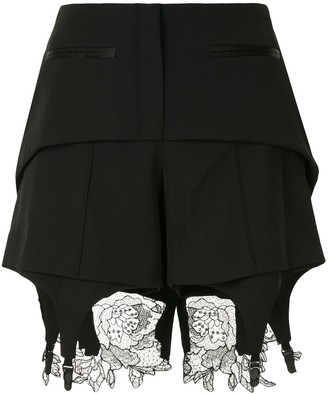 Vera Wang Lace Detail Fitted Shorts