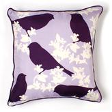 Goldfinch in Plum Luxe Silk Pillow