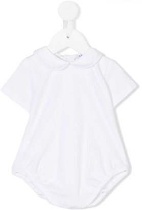 Siola embroidered Peter Pan collar body