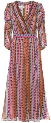 Diane von Furstenberg Bree striped silk chiffon wrap dress