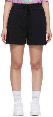 MSGM Black Sweat Shorts