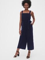 Gap Velvet Apron Wide-Leg Jumpsuit