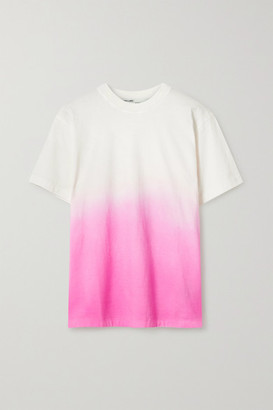 Off-White Embroidered Degrade Cotton-blend Jersey T-shirt