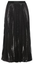 Diane von Furstenberg Heavyn Metallic Plissé Skirt