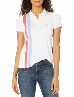 Nautica Women's Classic Heritage Short Sleeve Polo Shirt