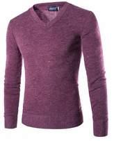 ZAWAPEMIA-men clothes ZAWAPEMIA Men's Solid Color Slim Fit V-neck Knit Sweater S