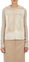 The Row Women's Mink & Wool Smattly Vest-BROWN