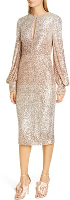 Badgley Mischka Collection Ombre Sequin Cocktail Dress