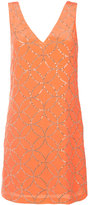 Trina Turk v-neck shift dress - women - Silk/Polyester - 2